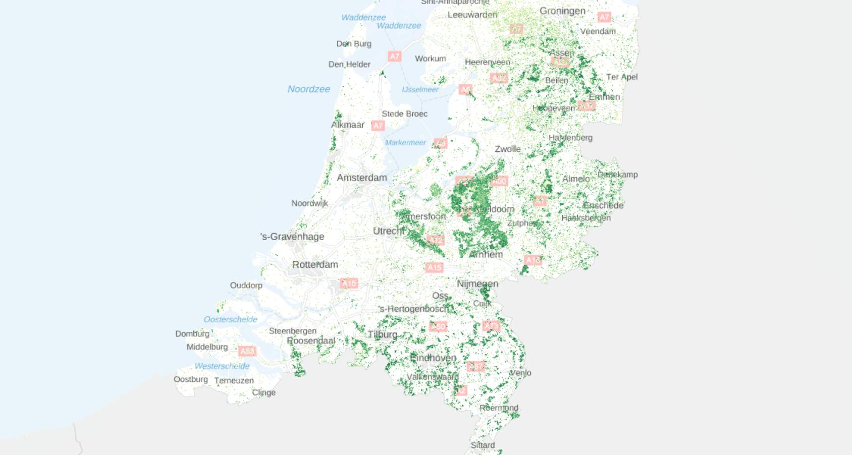 Groene atlas natuurlijk kapitaal