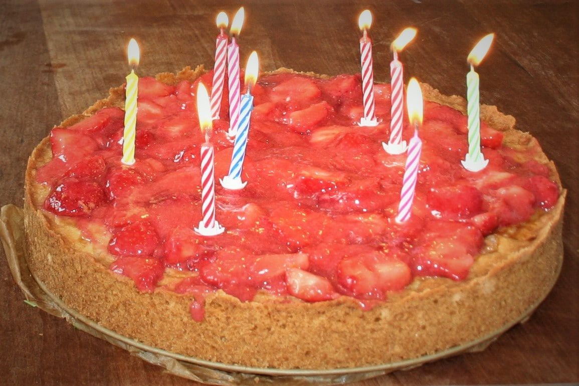 Aardbeiencheesecake